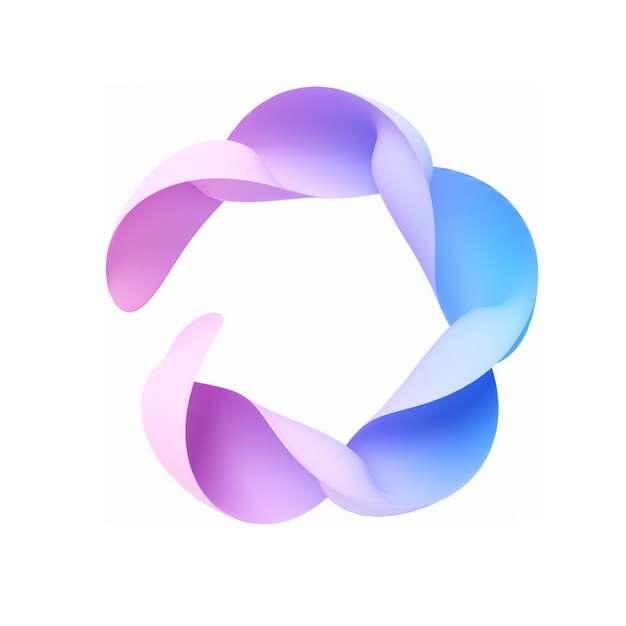 创意蓝紫色抽象扭曲图案482727png图片素材