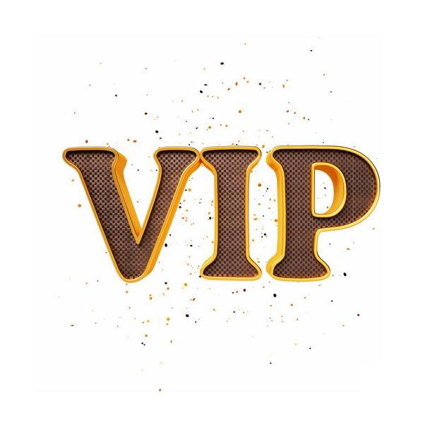 3D立体金色C4D风格VIP艺术字体5177104png图片免抠素材