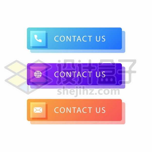 三种颜色的联系我们彩色按钮864443图片素材