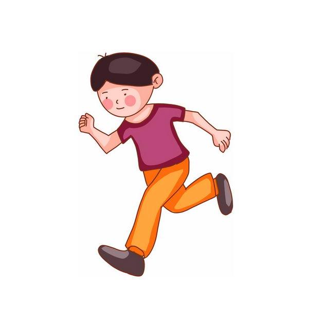 奔跑的卡通男孩108958png免抠图片素材