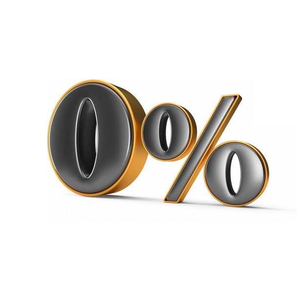 黑色金色3D立体0%百分比字体455137png图片素材