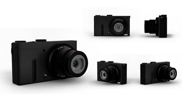 五个角度的3D立体黑色数码单反相机微单相机8858508png图片免抠素材 IT科技-第1张
