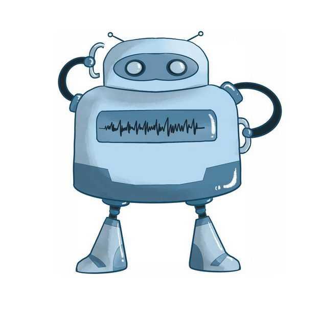 蓝色卡通智能小机器人351270png图片免抠素材
