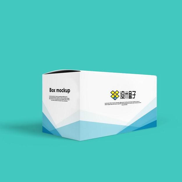 白色纸盒子上的logo图案样机800994图片素材