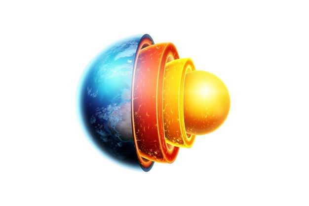 3D立体地球内部结构地壳地幔地核等地球圈层152242png免抠图片素材
