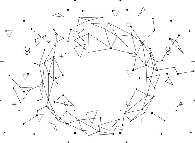黑色线条组成的多边形装饰图案603645PSD图片免抠素材