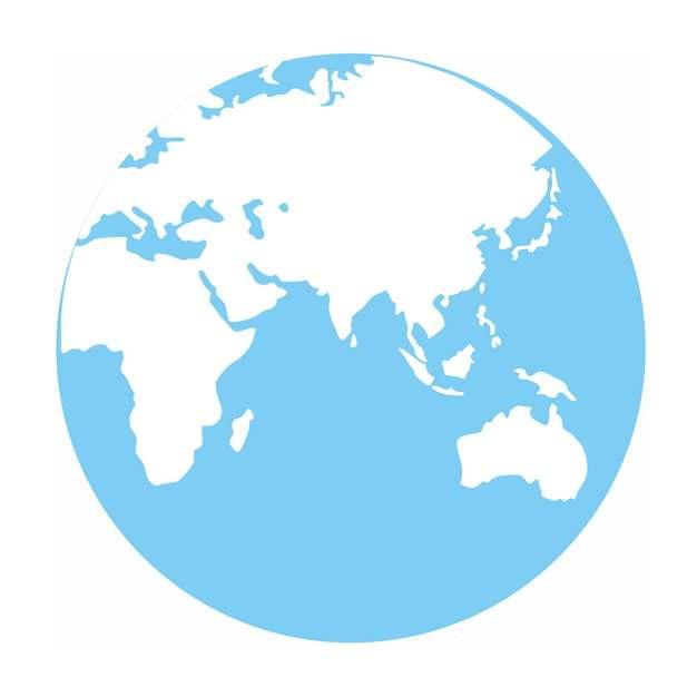蓝色白色地球图案422747PSD图片免抠素材