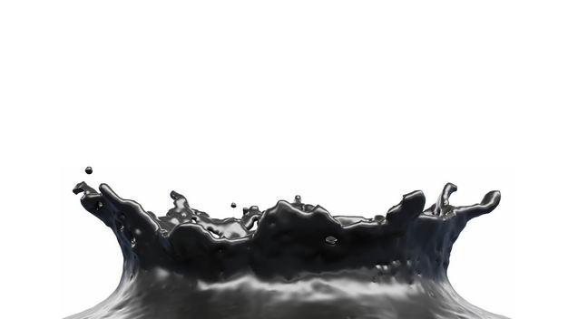 黑色石油飞溅的黑色水花效果467778png图片免抠素材