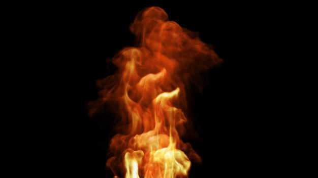 冒烟的燃烧着的火焰火苗效果529405png图片免抠素材