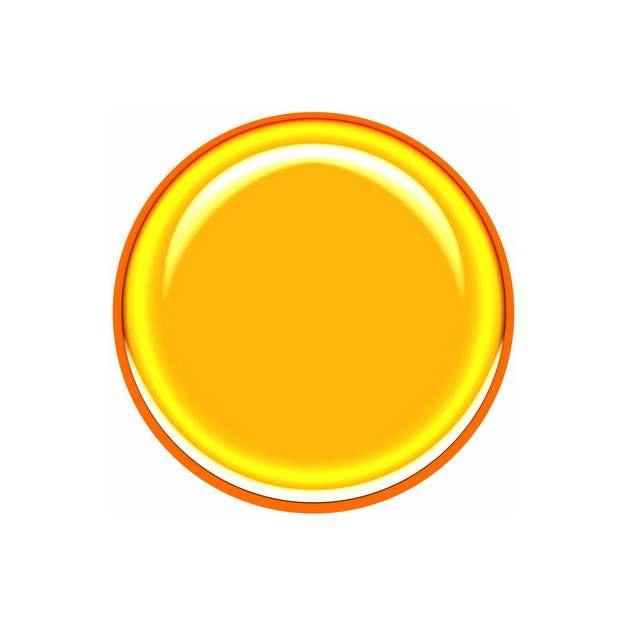 红色描边的黄色圆形按钮512514png图片素材