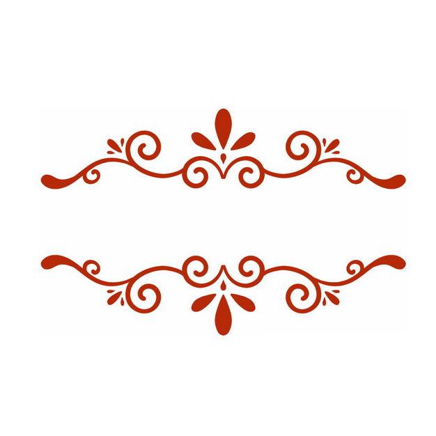简约欧式中国传统风格红色花纹图案502102免抠图片素材