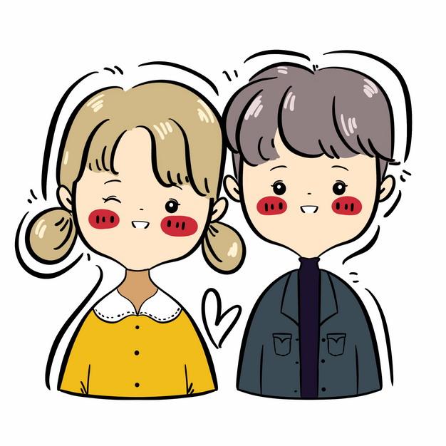 可爱的情侣卡通人物画像615901PSD图片免抠素材