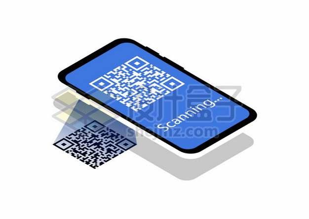 手机上的二维码扫码示意图688818图片素材