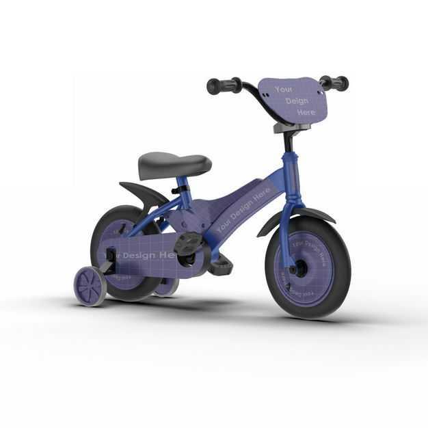 儿童自行车三轮脚踏车3D立体模型2466796png图片免抠素材