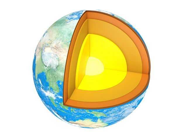 3D立体地球内部结构地壳地幔地核等地球解剖图493074png免抠图片素材