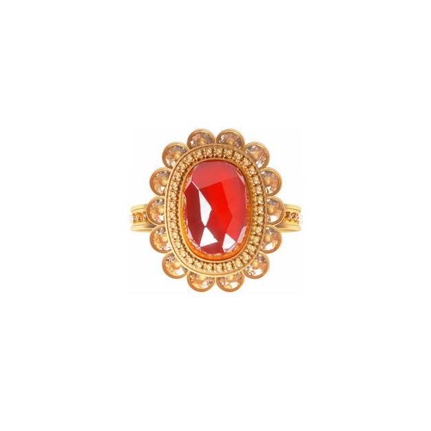 镶着红宝石的金戒指首饰832353png图片免抠素材