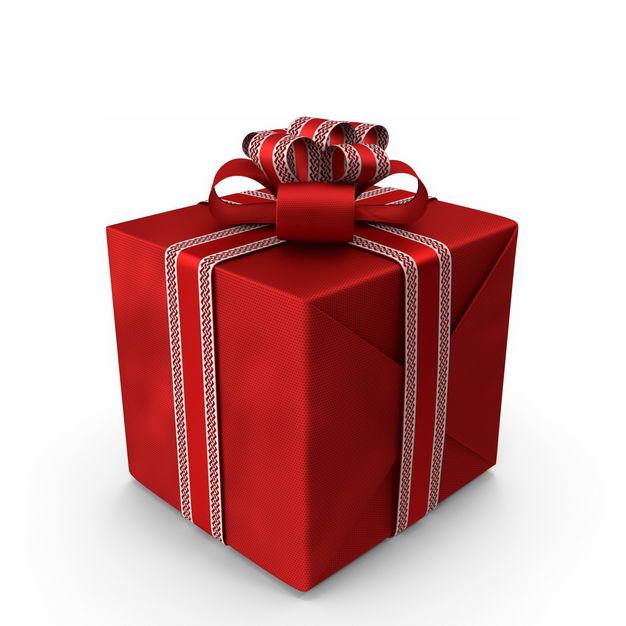 3D立体包装精美的红色礼物盒222743免抠图片素材
