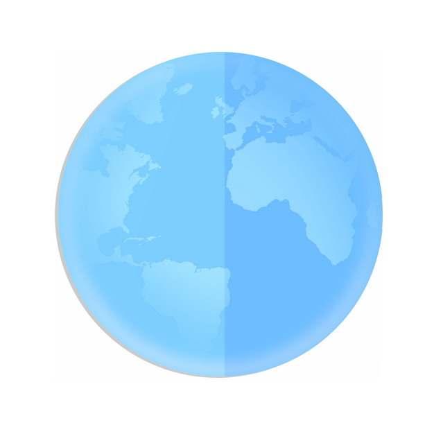 蓝色的地球水晶按钮375595PSD图片免抠素材