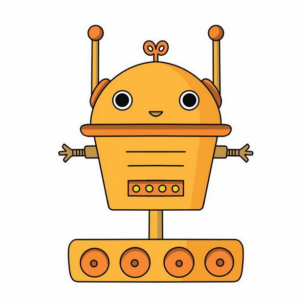 可爱的黄色卡通小机器人774079png图片免抠素材