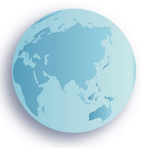 蓝色地球图案516583PSD图片免抠素材 科学地理-第1张