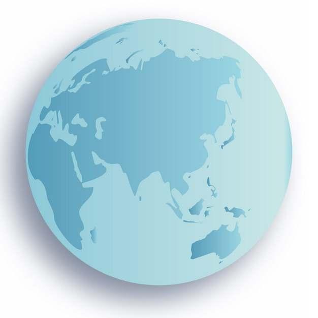 蓝色地球图案516583PSD图片免抠素材