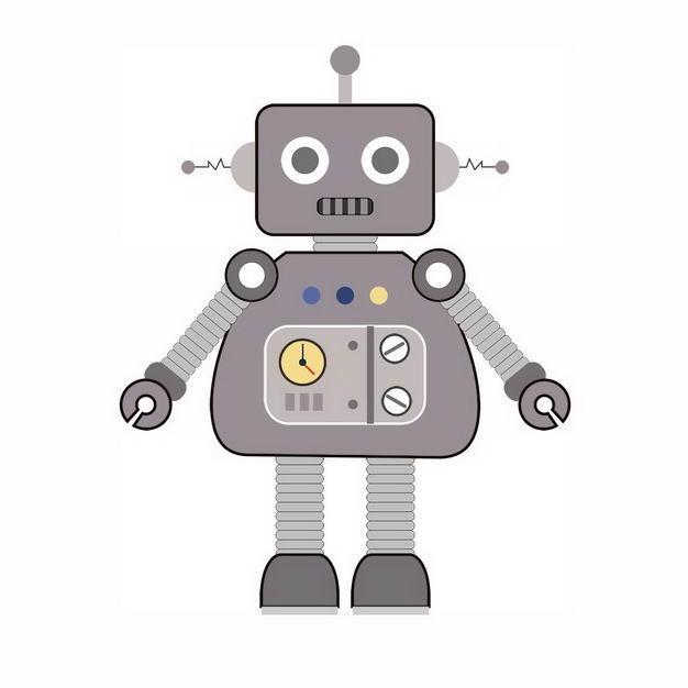 目瞪口呆的卡通小机器人895997png图片免抠素材 人物素材-第1张