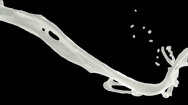 乳白色液体飞溅的牛奶喷溅效果676317png图片免抠素材 效果元素-第1张