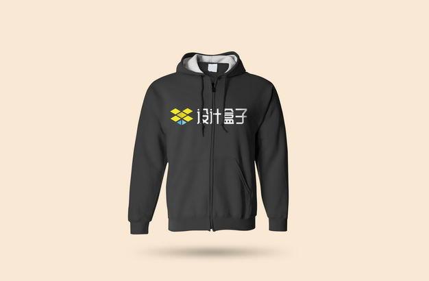 黑色运动卫衣logo样机设计模板459706图片素材