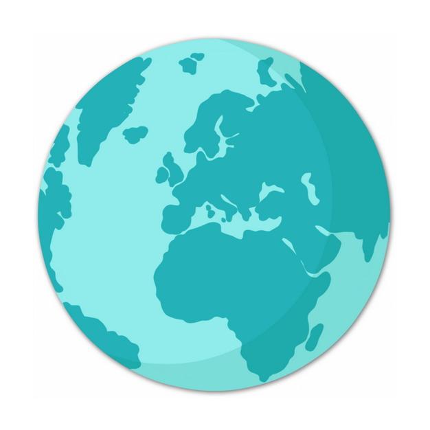 蓝色的地球图案551975PSD图片免抠素材 科学地理-第1张