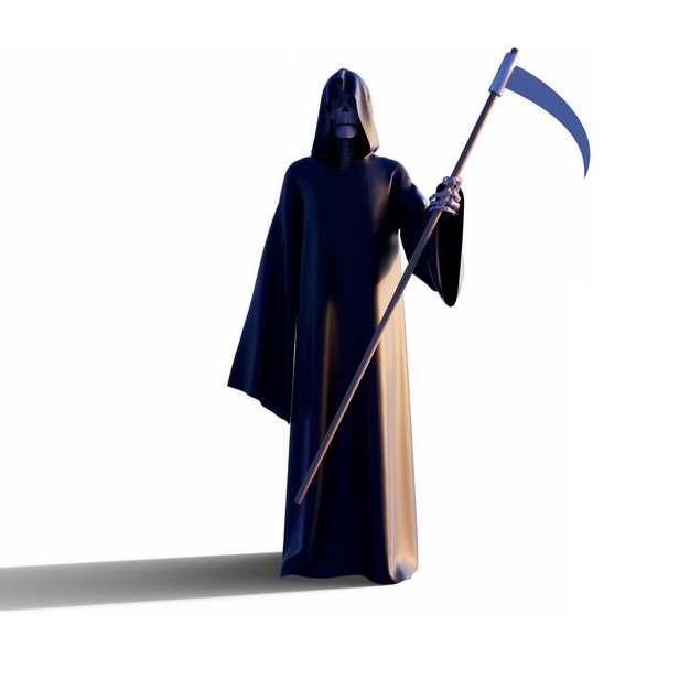 3D立体死神拿着镰刀850307png图片素材