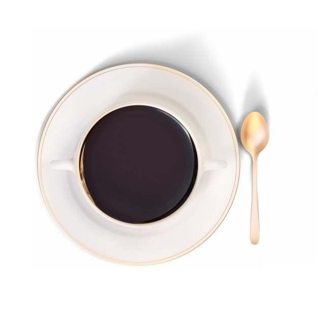 金色的汤匙和咖啡杯下午茶404522png图片素材