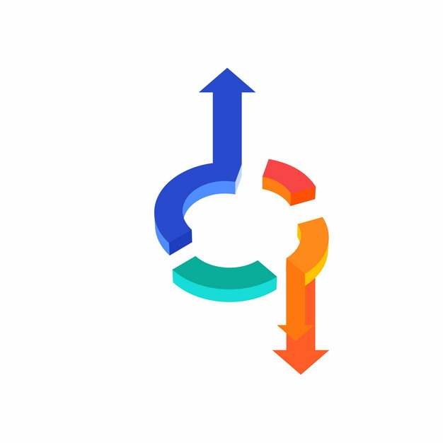 立体风格PPT信息图表箭头560580png图片素材