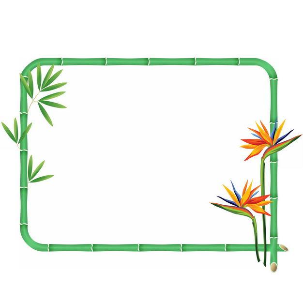 绿色竹竿竹子边框8691626png图片免抠素材