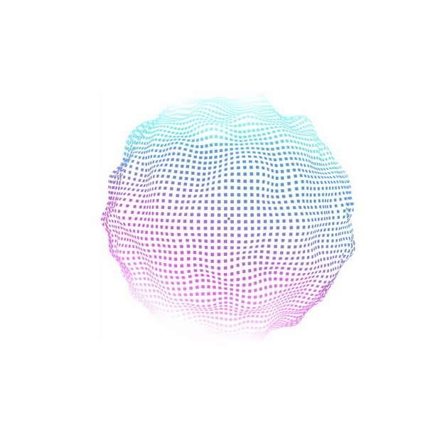 红色蓝色渐变色小方块组成的抽象图案791693png图片素材