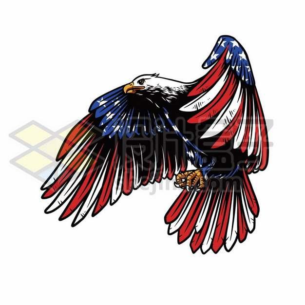 美国国旗星条旗图案的白头鹰596357图片素材