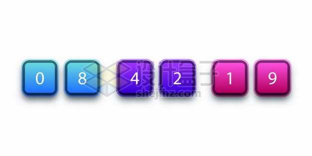 三种颜色的圆角彩色正方形按钮480717图片素材