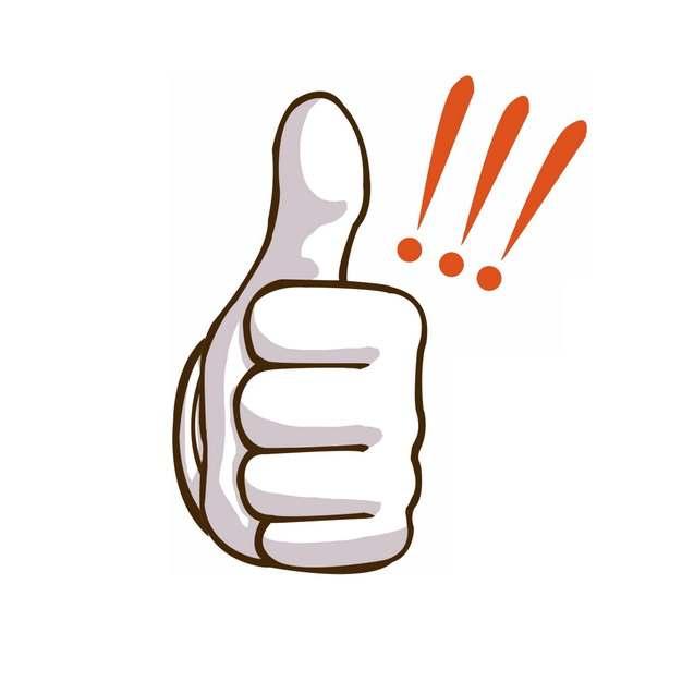 竖起大拇指点赞称赞的手769851PSD图片免抠素材