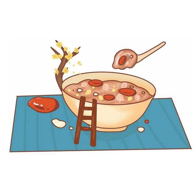 腊八节的卡通手绘腊八粥321218免抠图片素材