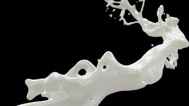 乳白色液体飞溅的牛奶喷溅效果948664png图片免抠素材