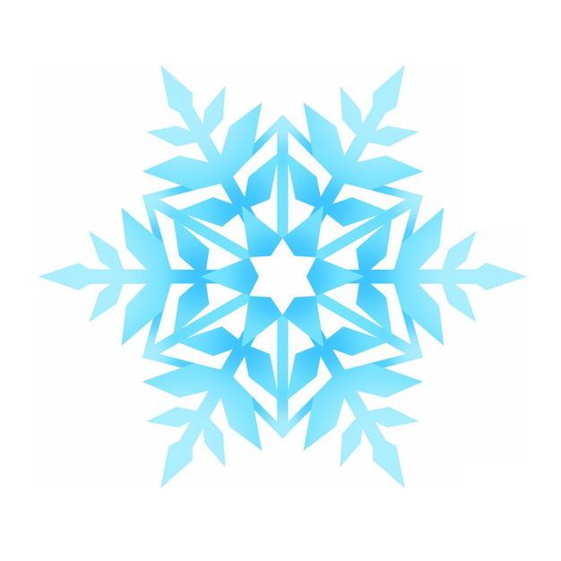 蓝色雪花图案649161PSD图片免抠素材