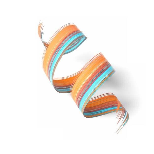 抽象涂鸦3D立体彩色螺旋图案993703png图片素材