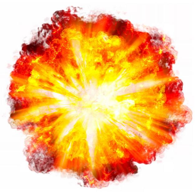 爆炸产生的火球效果451413PSD图片免抠素材