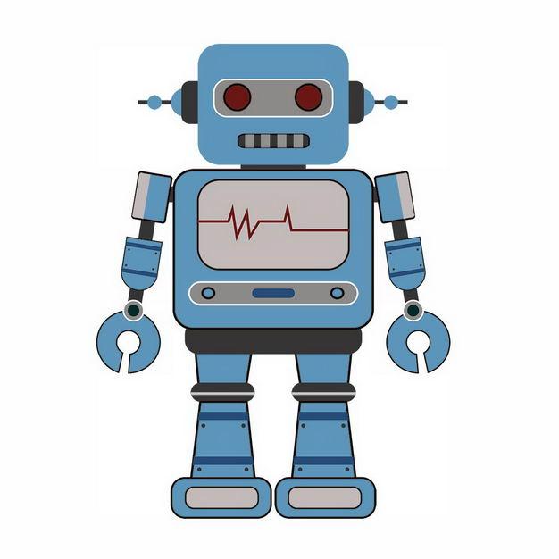 蓝色卡通小机器人550898png图片免抠素材 人物素材-第1张