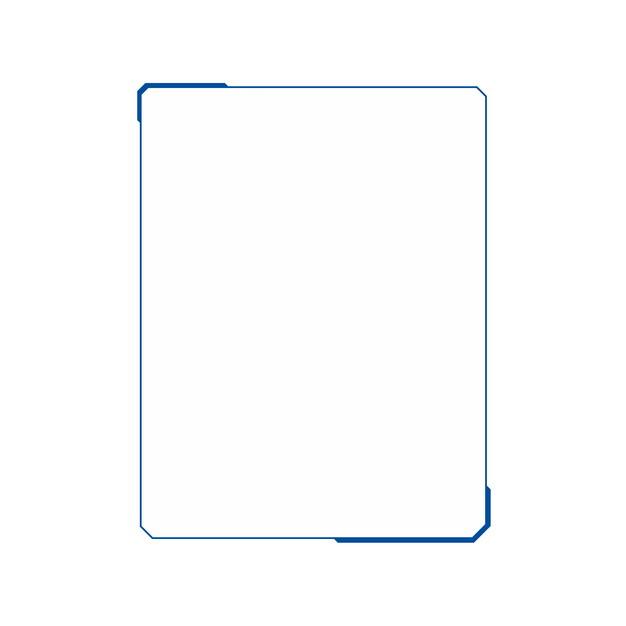 极简风格的蓝色科幻风格边框405534PSD图片免抠素材 边框纹理-第1张