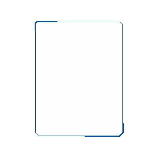 极简风格的蓝色科幻风格边框405534PSD图片免抠素材