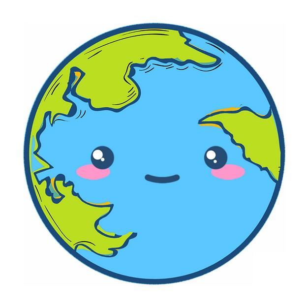 可爱的卡通地球734489PSD图片免抠素材