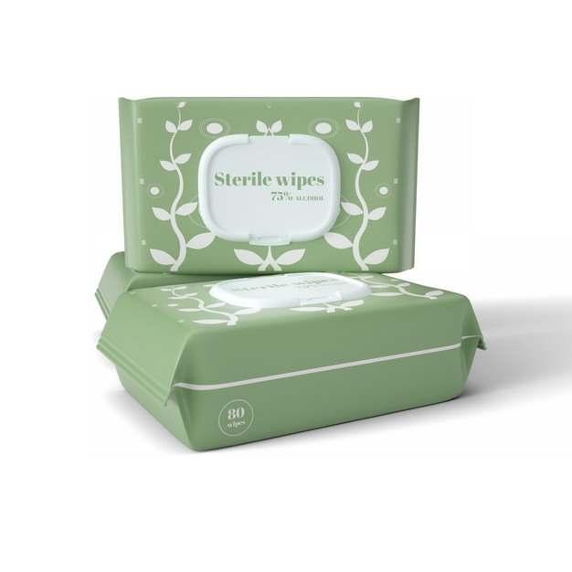 绿色抽纸巾抽纸盒391382png图片素材