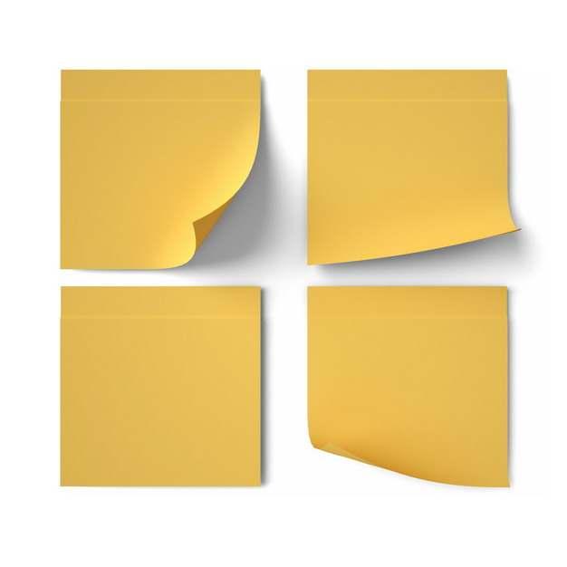 四款黄色标签纸贴纸447751png图片素材