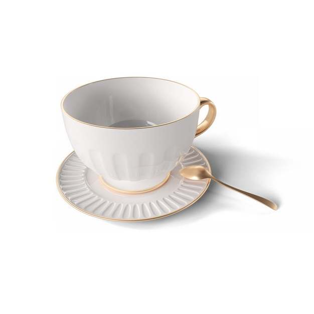 镶金边的欧式英式咖啡杯陶瓷杯370326png图片素材