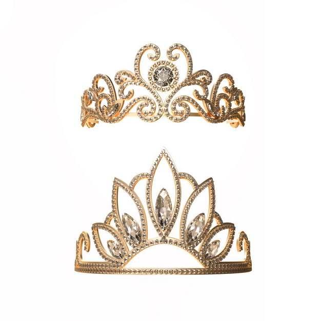 两款镶钻的黄金皇冠869983png图片素材